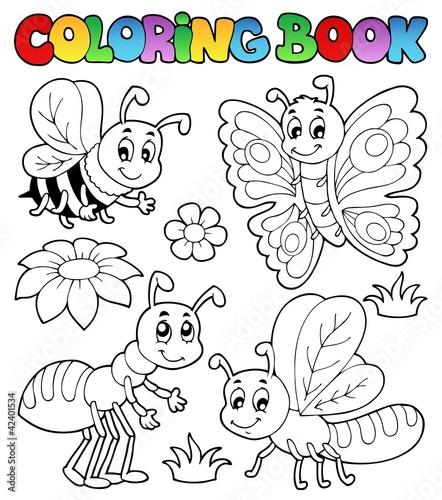 Spoed Foto op Canvas Doe het zelf Coloring book cute bugs 2