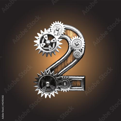 Fotografía Vector metal figure  with gearwheels