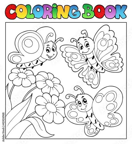 kolorowanka-z-motylami-i-kwiatami