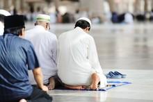 Muslims Praying Together At Ho...