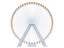 Ferris Wheel On A White Background