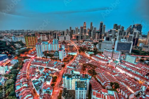 birdseye view of singapore'a chinatown