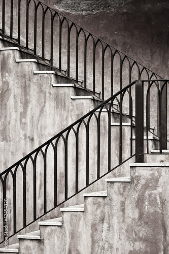 Old metal staircase