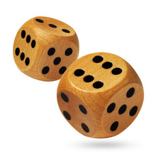 A Pair Of Rolling Wooden Dices...