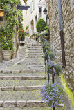 Fototapeta Na drzwi - Street in the medieval city of Saint Paul de Vence, France