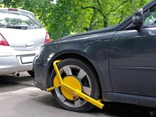 Wheel Clamp Mounted On Wrong Parking Car