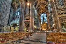 HDR Image Of Liverpool Cathedral, UK.