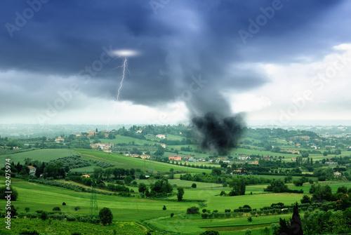tornado in the valley in spring #42475974
