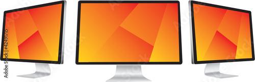 Obraz display lcd vector - fototapety do salonu