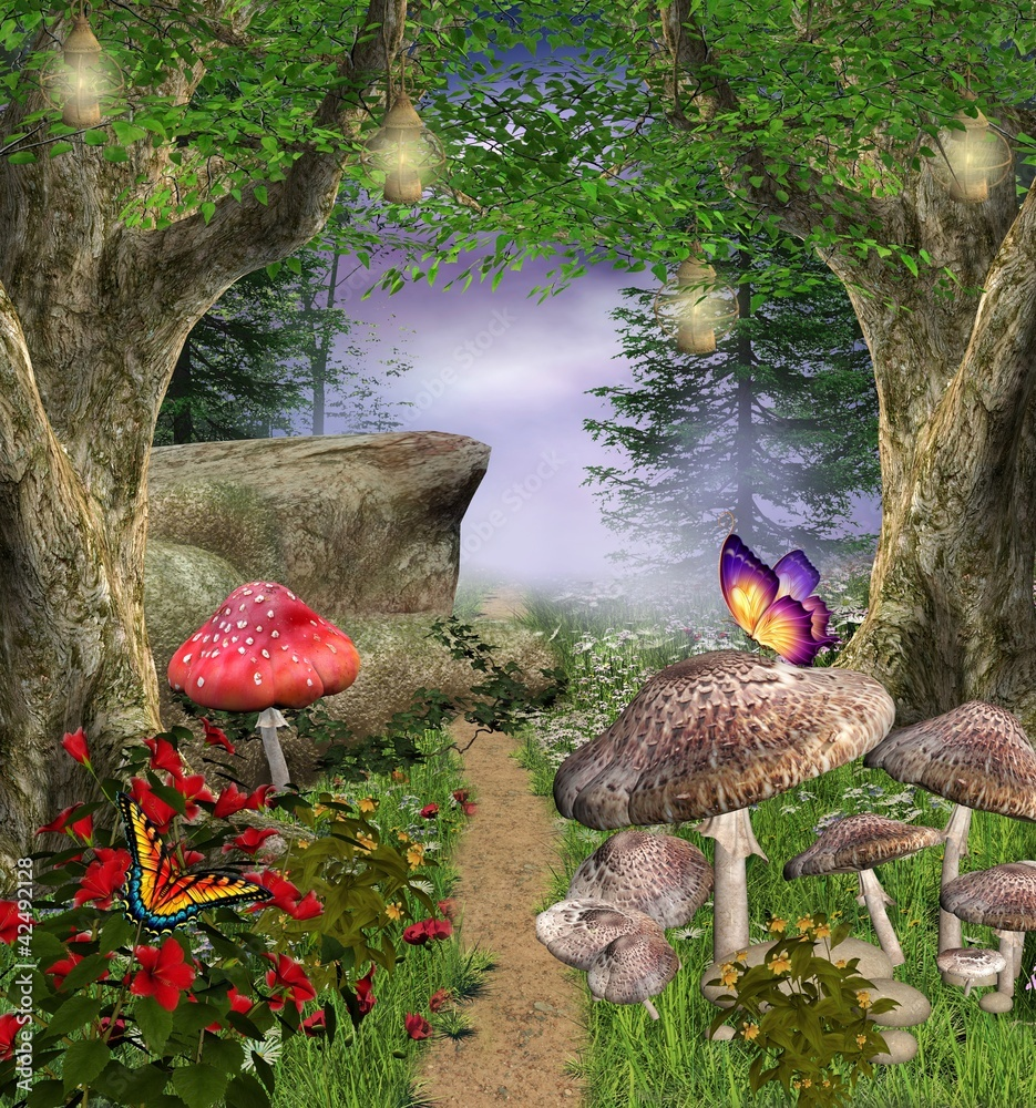Fototapety, obrazy: Enchanted nature series - enchanted pathway