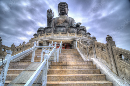 Foto auf AluDibond Hongkong HDR Image of Tian Tan Buddha, Lantau Island, Hong Kong