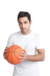 Young Man Portrait Holding Basketball