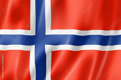 Norwegian flag Canvas Print