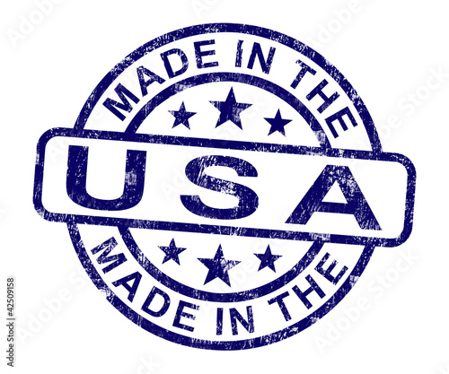 Photographie  Made In Usa Stamp Shows Product Or Produce Of America