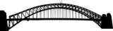 Fototapeta Most - Sydney Harbour bridge silhouette