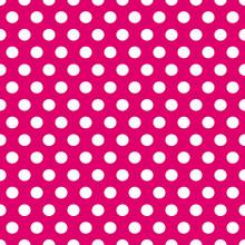 Seamless Pink And White Polka Dots Pattern