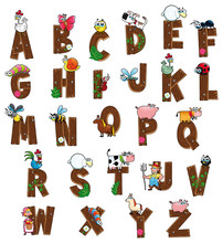 Alphabet With Farm Characters....