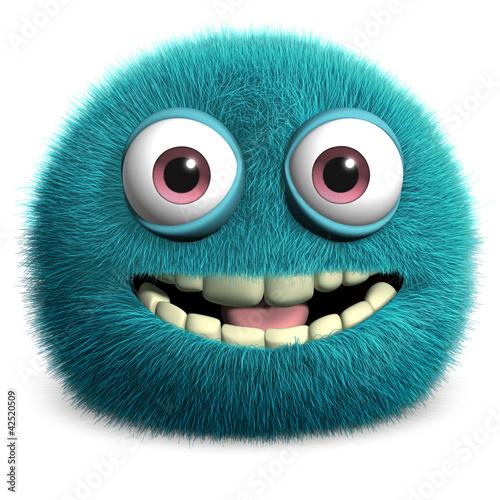 Poster de jardin Doux monstres blue alien