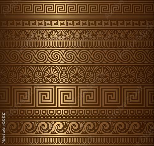Fotografía Seamless gold Greek elements