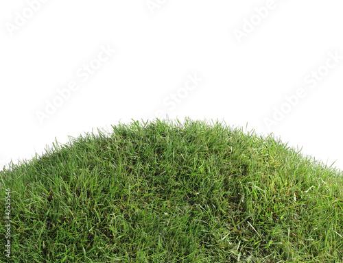 Montage in der Fensternische Gras Simple Grassy Hill Cutout