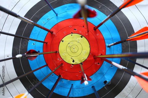 Photo arrows miss target.