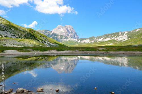 Mountain lake in Abruzzo Wallpaper Mural
