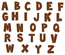 Alphabet With Woods. Vector Is...