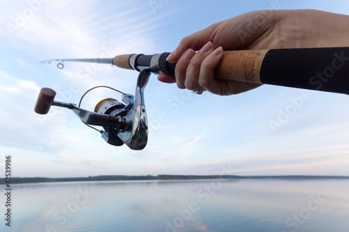 Foto-Leinwand - fishing