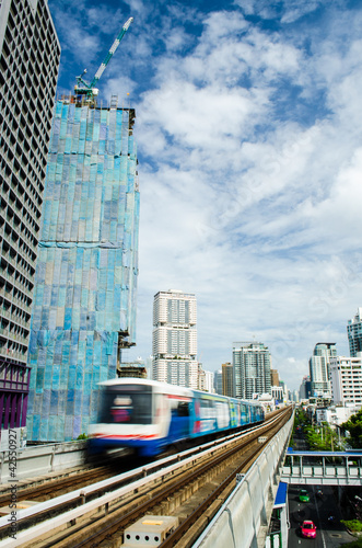 sky train Canvas Print
