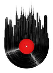 Fototapeta Do pokoju dziewczyny Vinyl city