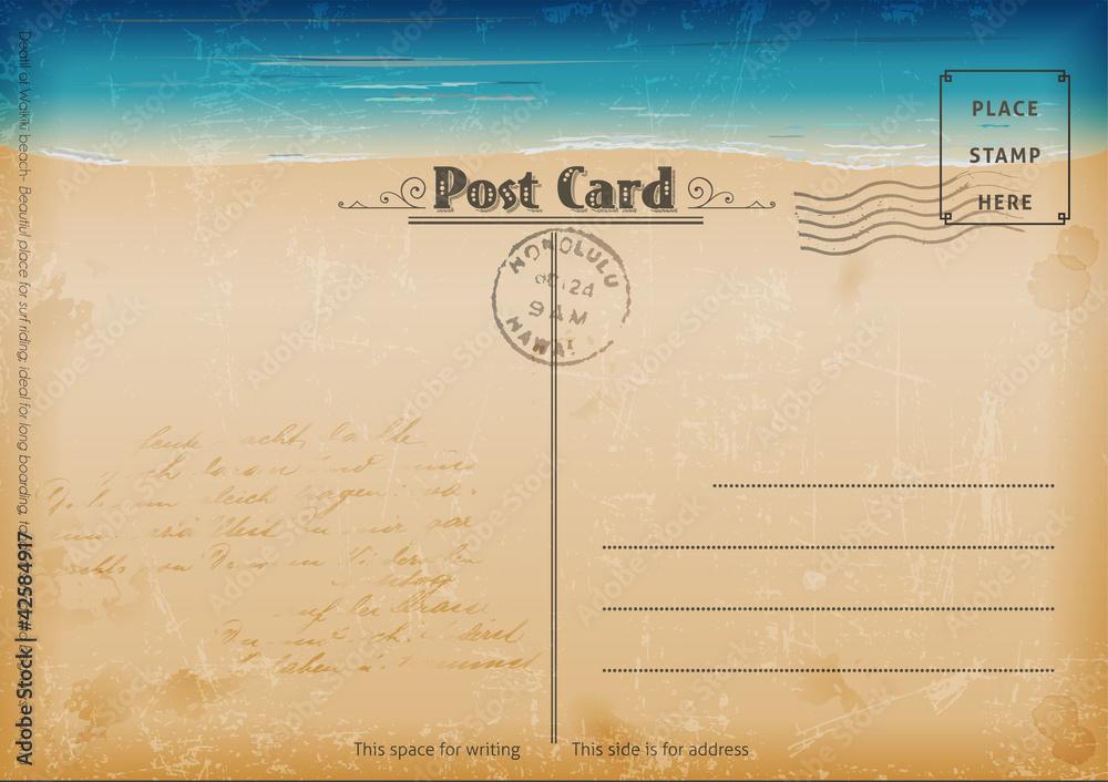 Fototapeta Vintage summer postcard.