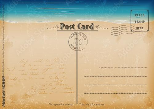 Fotografia  Vintage summer postcard.