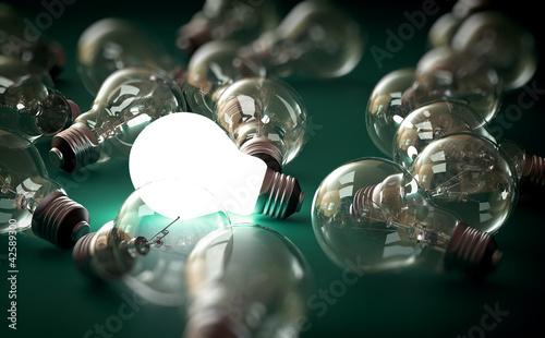 Photo  bright bulb