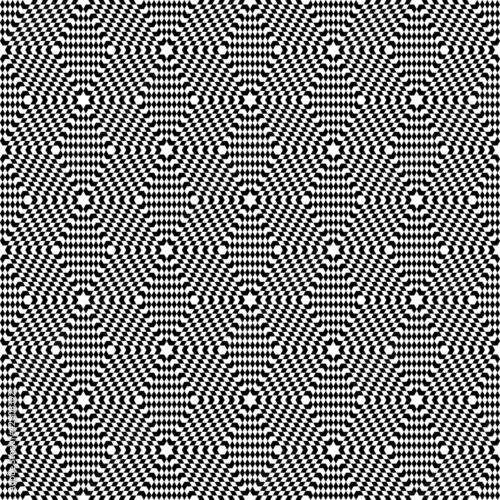 Wall Murals Psychedelic Hexagons texture. Seamless op art pattern.
