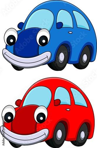 Staande foto Cartoon cars car cartoon