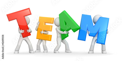 Valokuva  Teamwork concept