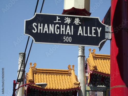 Straßenschild Chinatown Vancouver