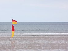 Lifeguard Patrol Flag On A Nor...