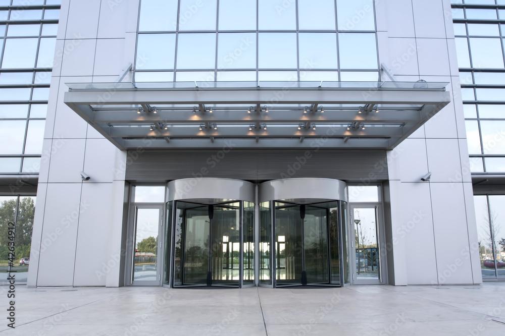Fototapeta Business building entrance