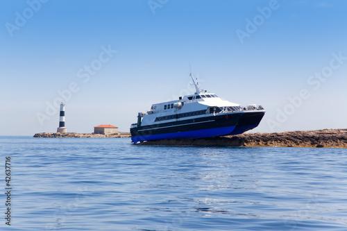 Espalmador formentera island ferry accident Canvas Print