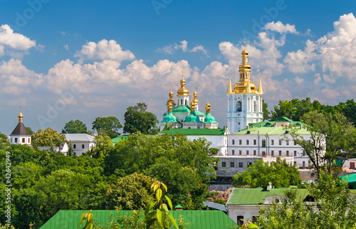 Tuinposter Kiev Kiev Pechersk Lavra. View of Lower Lavra (Far Caves). Ukraine