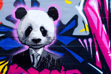Naklejka Suited panda