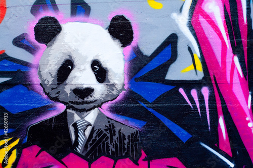 Foto op Canvas Panda Suited panda