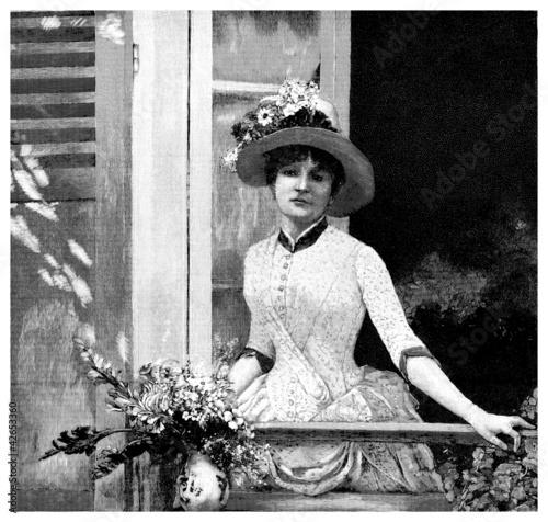 wystrojona-kobieta-pod-koniec-xix-wieku-w-okresie-belle-epoque-grafika