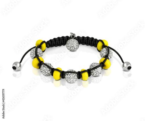 Obraz na plátne braided bracelet with beads