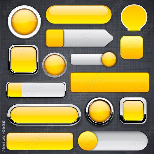 Poster  Gelbe hoch detaillierte moderne Tasten.