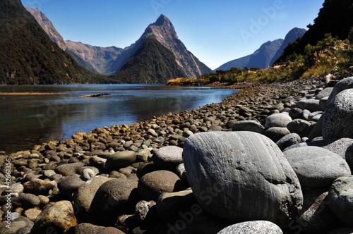 Tuinposter Nieuw Zeeland New Zealand Fiordland