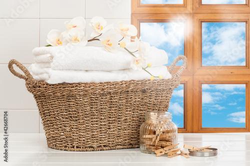 Fotografia, Obraz  Basket Of Laundry