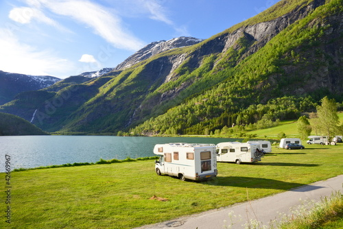 Photo sur Aluminium Camping Reisen