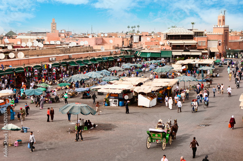 Poster Maroc Djemaa el Fna - square in Marrakesh